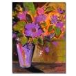 Trademark Fine Art Shelia Golden 'Purple Magenta Flowers' Canvas Art 26x32 Inches