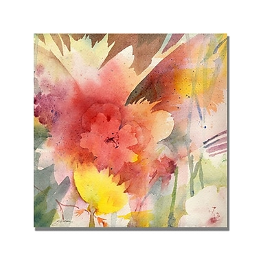 Trademark Fine Art Shelia Golden 'Hibiscus Shadows' Canvas Art 24x24 Inches