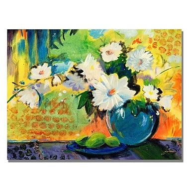 Trademark Fine Art Shelia Golden 'Yellow Wall' Canvas Art 18x24 Inches