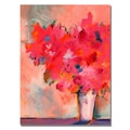 Trademark Fine Art Shelia Golden 'Contemporary Floral' Canvas Art
