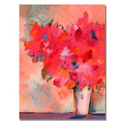 Trademark Fine Art Shelia Golden 'Contemporary Floral' Canvas Art 35x47 Inches