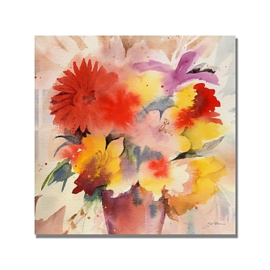 Trademark Fine Art Shelia Golden 'Bouqet' Canvas Art.