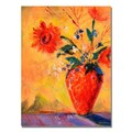 Trademark Fine Art Shelia Golden 'Fiesta Bouqet' Canvas Art. 35x47 Inches