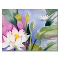 Trademark Fine Art Shelia Golden 'Lotus Pond' Canvas Art.