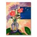 Trademark Fine Art Shelia Golden 'Purple Sky' Canvas Art 24x32 Inches