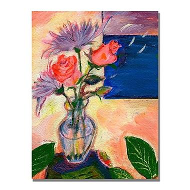 Trademark Fine Art Shelia Golden 'Purple Sky' Canvas Art