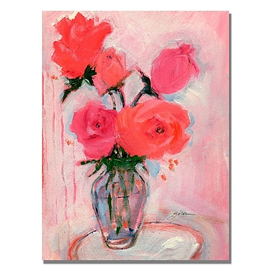 Trademark Fine Art Shelia Golden 'Roses' Canvas Art 18x24 Inches