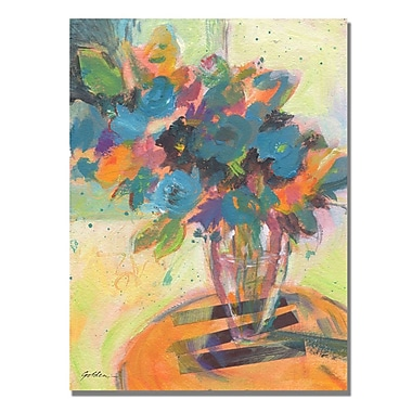 Trademark Fine Art Shelia Golden 'Blue Blossoming' Canvas Art 35x47 Inches
