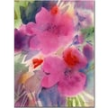 Trademark Fine Art Pink Blossoms by Sheila Golden Canvas Art 24x32 Inches