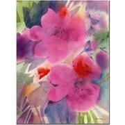 Trademark Fine Art Sheila Golden 'Pink Blossoms' Canvas Art 18x24 Inches