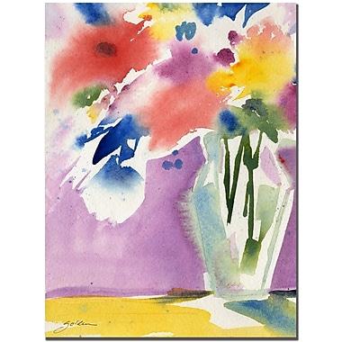 Trademark Fine Art Sheila Golden 'Purple Wall Celebration' Canvas Art