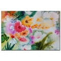 Trademark Fine Art Sheila Golden 'Dream FLower Garden I' Canvas Art