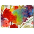 Trademark Fine Art Sheila Golden 'Rainbow Flowers' Canvas Art
