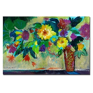 Trademark Fine Art Sheila Golden 'Green Bouquet' Canvas Art