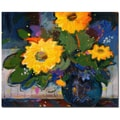 Trademark Fine Art Sheila Golden 'Tree Yellow Flowers' Canvas Art