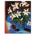 Trademark Fine Art Sheila Golden 'A Bowl of Cherries' Canvas Art