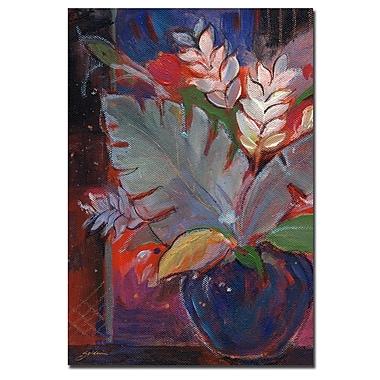 Trademark Fine Art Sheila Golden 'Tropic Night' Canvas Art