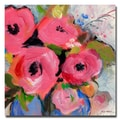 Trademark Fine Art Sheila Golden 'Bouquet in Pink' Canvas Art 18x18 Inches