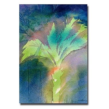 Trademark Fine Art Sheila Golden 'Night Palm' Canvas Art 22x32 Inches