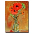Trademark Fine Art Sheila Golden 'Daisy Vase' Canvas Art