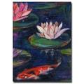 Trademark Fine Art Sheila Golden 'The Lily Pod' Canvas Art 16x24 Inches