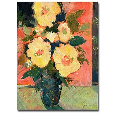 Trademark Fine Art Sheila Golden 'Tropical Blooms' Canvas Art 26x32 Inches