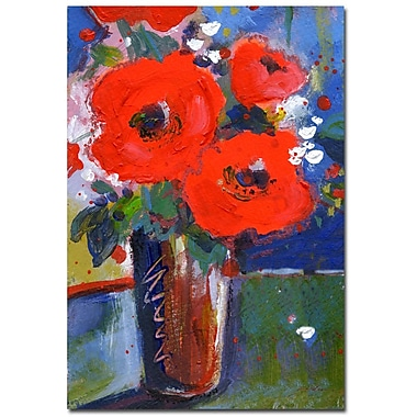 Trademark Fine Art Sheila Golden 'Bouqet II' Gallery Wrapped Canvas Art 24x32 Inches