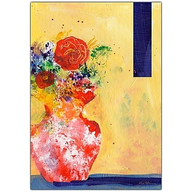 Trademark Fine Art Red Vase by Sheila Golden-34x47 Canvas Art 34x47 Inches
