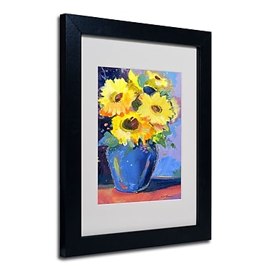 Trademark Fine Art Sheila Golden 'Sunflowers II' Matted Art Black Frame 11x14 Inches