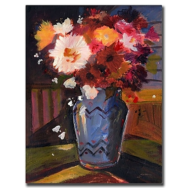 Trademark Fine Art White Flower by Sheila Golden-Ready to Hang Canvas Art 35x47 Inches