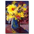 Trademark Fine Art Sheila Golden, 'Yellow Flowers' Canvas Art 24x32 Inches