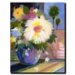 Trademark Fine Art Sheila Golden 'White Splash' Canvas Art Ready to Hang 14x19 Inches