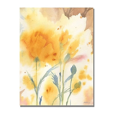 Trademark Fine Art Shelia Golden 'Golden Poppies' Canvas Art 22x32 Inches