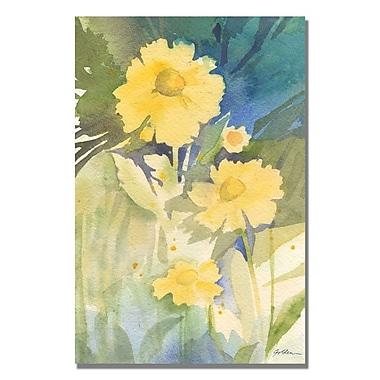 Trademark Fine Art Shelia Golden 'Sunshine Yellow' Canvas Art 35x47 Inches