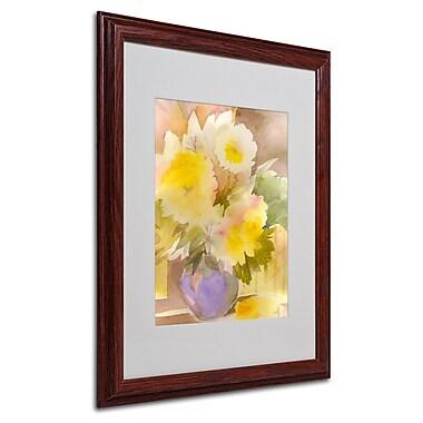 Sheila Golden 'Purple Vase' Framed Matted Art - 16x20 Inches - Wood Frame