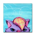 Trademark Fine Art Kitty by Sylvia Masek-Ready to hang Gallery Wrapped Canvas!