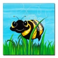 Trademark Fine Art Bee at Play by Sylvia Masek-Ready to hang Gallery Wrapped