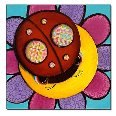 Trademark Fine Art Little Lady by Sylvia Masek-Ready to hang Gallery Wrapped C 14x14 Inches