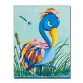 Trademark Fine Art Sylvia Masek 'Showbird' Canvas Art