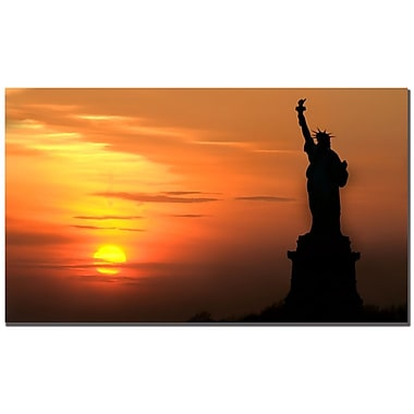 Trademark Fine Art Tammy Davison 'Lady Liberty at Sunset' Canvas Art