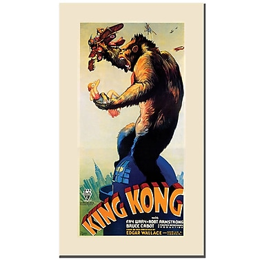 Trademark Fine Art KING KONG-Canvas Art 16x32 Inches