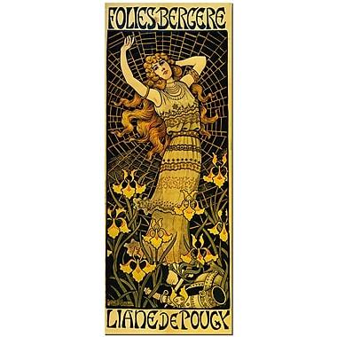 Trademark Fine Art Folies Bergere by Paul Berton- Canvas Art