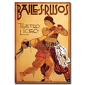 Trademark Fine Art Bailes Rusos Teatro Liceo-Gallery Wrapped Canvas Art