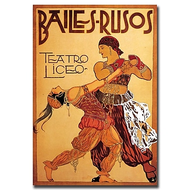 Trademark Fine Art Bailes Rusos Teatro Liceo-Gallery Wrapped Canvas Art
