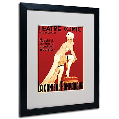 Trademark Fine Art 'Teatre Comic de Barcelona' Matted Art Black Frame 16x20 Inches