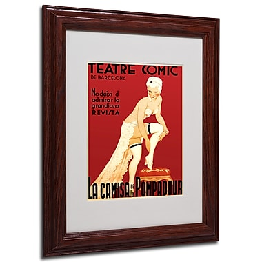 Teatre Comic de Barcelona' Framed Matted Art - 11x14 Inches - Wood Frame