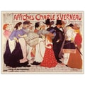 Trademark Fine Art Affiches Charles Verneau by Steinlen-Canvas Art