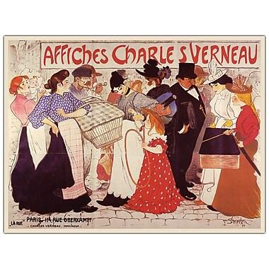 Trademark Fine Art Affiches Charles Verneau by Steinlen-Canvas Art