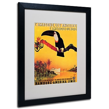 Trademark Fine Art Peter Fussey 'L'Amazone' Matted Art Black Frame 16x20 Inches