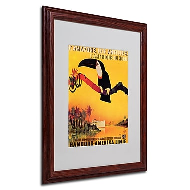 Peter Fussey 'L'Amazone' Framed Matted Art - 16x20 Inches - Wood Frame
